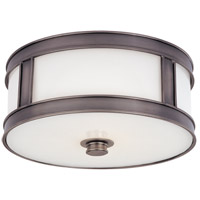 Patterson 2 Light 13 inch Historic Nickel Flush Mount Ceiling Light
