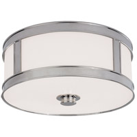 Patterson 2 Light 13 inch Polished Nickel Flush Mount Ceiling Light