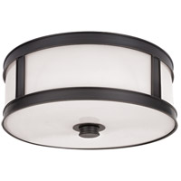 Patterson 3 Light 16 inch Old Bronze Flush Mount Ceiling Light