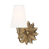 Hudson Valley Lighting Bleecker 1 Light Wall Sconce in Aged Brass 5591-AGB-WS