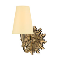 Hudson Valley Lighting Bleecker 1 Light Wall Sconce in Aged Brass with Eco Paper Shade 5591-AGB