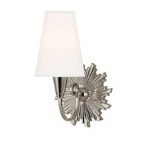 Hudson Valley Lighting Bleecker 1 Light Wall Sconce in Polished Nickel 5591-PN-WS