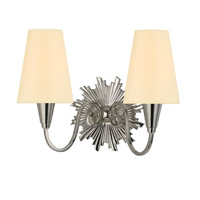 Bleecker 2 Light 15 inch Polished Nickel Wall Sconce Wall Light in Eco Paper