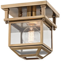Hudson Valley 5608-AGB Rutherford 1 Light 8 inch Aged Brass Semi-Flush Ceiling Light Transluscent