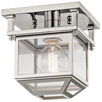 Hudson Valley 5608-PN Rutherford 1 Light 8 inch Polished Nickel Semi-Flush Ceiling Light Transluscent