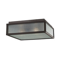 Freemont 3 Light 14 inch Old Bronze Flush Mount Ceiling Light