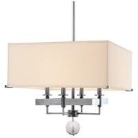 Hudson Valley 5645-PN Gresham Park 4 Light 19 inch Polished Nickel Chandelier Ceiling Light