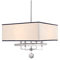 Hudson Valley Lighting Gresham Park 4 Light Chandelier in Polished Nickel 5646-PN