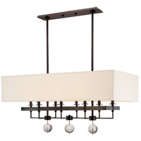 Gresham Park 8 Light 38 inch Old Bronze Island Light Ceiling Light