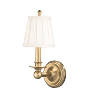 Hudson Valley Lighting Hancock 1 Light Wall Sconce in Aged Brass 5701-AGB photo thumbnail