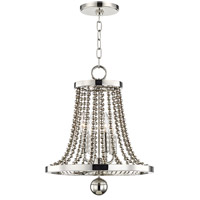 Spool 4 Light 14 inch Polished Nickel Chandelier Ceiling Light