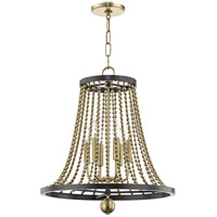 Hudson Valley 5720-AGB Spool 6 Light 21 inch Aged Brass Chandelier Ceiling Light