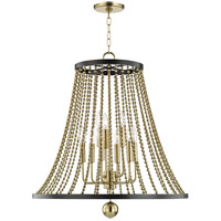 Hudson Valley 5726-AGB Spool 9 Light 27 inch Aged Brass Chandelier Ceiling Light