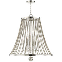 Spool 9 Light 27 inch Polished Nickel Chandelier Ceiling Light