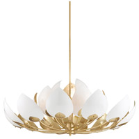 Hudson Valley 5754-GL/WH Lotus 21 Light 54 inch Gold Leaf Chandelier Ceiling Light