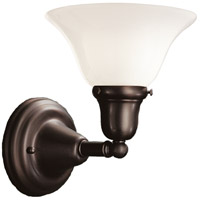 Edison 1 Light 8 inch Old Bronze Bath And Vanity Wall Light in 415