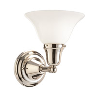Edison 1 Light 8 inch Polished Nickel Bath And Vanity Wall Light in 415