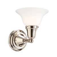Edison 1 Light 8 inch Polished Nickel Bath And Vanity Wall Light in 415M