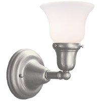 Hudson Valley 581-SN-341 Edison 1 Light 6 inch Satin Nickel Bath And Vanity Wall Light in 341