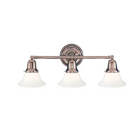 Edison 3 Light 21 inch Polished Nickel Bath And Vanity Wall Light in 415M