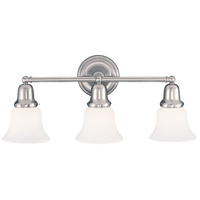 Hudson Valley 583-SN-341 Edison 3 Light 21 inch Satin Nickel Bath And Vanity Wall Light in 341