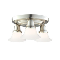 Hudson Valley 587-SN-415M Edison 3 Light 16 inch Satin Nickel Semi Flush Ceiling Light