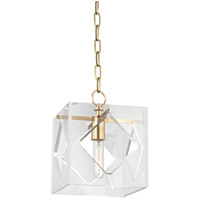 Hudson Valley Lighting Travis 1 Light Pendant in Aged Brass 5909-AGB
