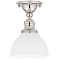 Sutton 1 Light 7 inch Polished Nickel Semi Flush Ceiling Light