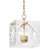Travis 4 Light 12 inch Aged Brass Pendant Ceiling Light