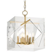 Travis 8 Light 16 inch Aged Brass Pendant Ceiling Light
