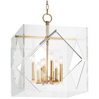 Travis 8 Light 20 inch Aged Brass Pendant Ceiling Light