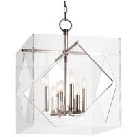 Travis 8 Light 20 inch Polished Nickel Pendant Ceiling Light