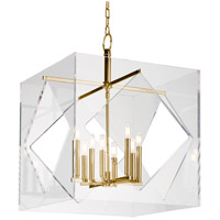 Hudson Valley Lighting Travis 8 Light Pendant in Aged Brass 5924-AGB