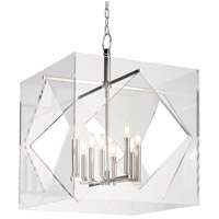 Hudson Valley Lighting Travis 8 Light Pendant in Polished Nickel 5924-PN