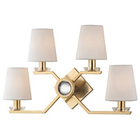 Hudson Valley Lighting Baker 4 Light Wall Sconce in Aged Brass 5940-AGB