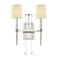 Hudson Valley Lighting Laurel 2 Light Wall Sconce in Polished Nickel 6002-PN