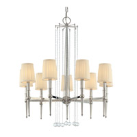 Hudson Valley Lighting Laurel 9 Light Chandelier in Polished Nickel 6019-PN