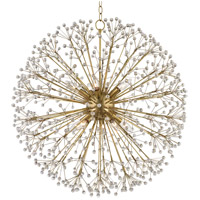 Dunkirk 10 Light 30 inch Aged Brass Chandelier Ceiling Light