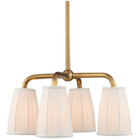 Malden 4 Light 25 inch Aged Brass Chandelier Ceiling Light
