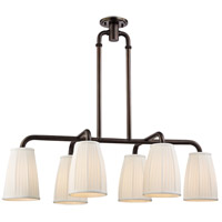 Malden 6 Light 41 inch Distressed Bronze Island Ceiling Light