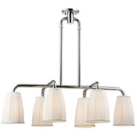 Malden 6 Light 41 inch Polished Nickel Island Ceiling Light