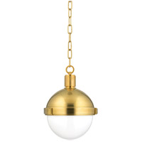 Lambert 1 Light 10 inch Aged Brass Pendant Ceiling Light