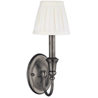 Hudson Valley Lighting Huntington 1 Light Wall Sconce in Antique Nickel 6111-AN