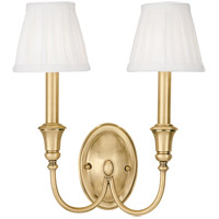 Hudson Valley 6112-AGB Jaden 2 Light 12 inch Aged Brass Wall Sconce Wall Light
