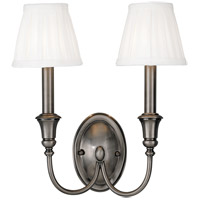 Hudson Valley Lighting Huntington 2 Light Wall Sconce in Antique Nickel 6112-AN