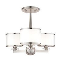 Basking Ridge 3 Light 17 inch Satin Nickel Chandelier Ceiling Light