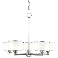 Hudson Valley Lighting Basking Ridge 5 Light Chandelier in Polished Nickel 6115-PN