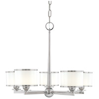 Hudson Valley 6115-SN Basking Ridge 5 Light 24 inch Satin Nickel Chandelier Ceiling Light