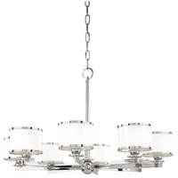 Hudson Valley Lighting Basking Ridge 8 Light Chandelier in Polished Nickel 6118-PN
