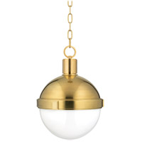 Hudson Valley 612-AGB Lambert 1 Light 13 inch Aged Brass Pendant Ceiling Light  photo thumbnail